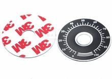 10Pieces/Lot (0-100)With Glue Digital Dial Potentiometer Plate--Diameter:40mm Inner Hole:10mm