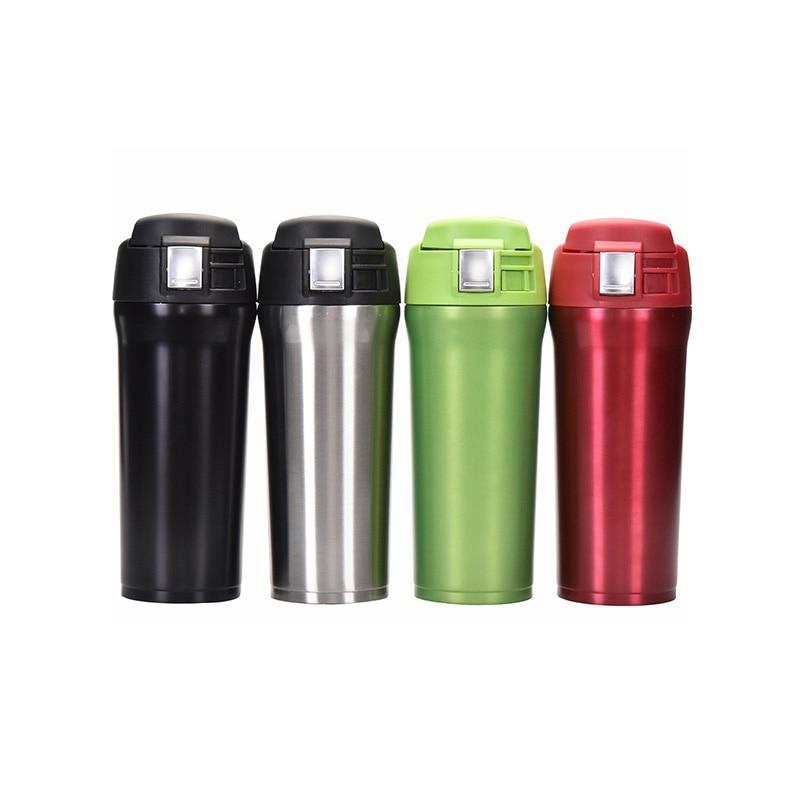 Вакуумный Термос BearKnight из нержавеющей стали, 480 мл, 4 цвета, для кофе, автомобиля, прыгающий, большая емкость, запаянный Герметичный портативный чайник|stainless steel vacuum|thermos bottlevacuum coffee | АлиЭкспресс