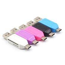 Тип C& Micro USB& USB 2 в 1 OTG кард-ридер высокоскоростной USB2.0 Универсальный OTG TF/SD для Android компьютера удлинители