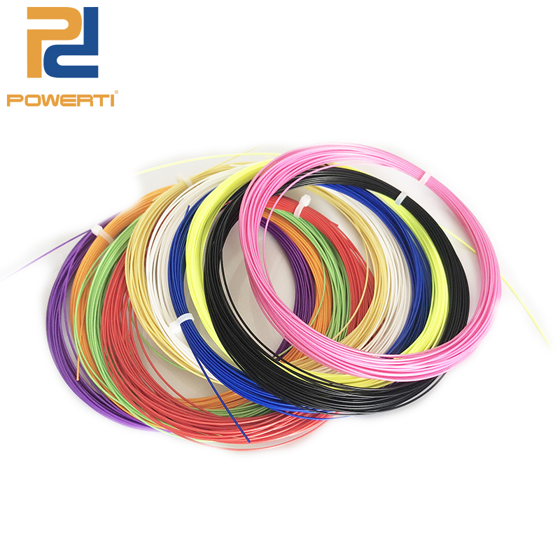 POWERTI 50pcs/lot -Wholesale 65 BX95 22- 26 lbs String Badminton Racket String 0.7mm Racquet Training String 10m Sport Outdoor