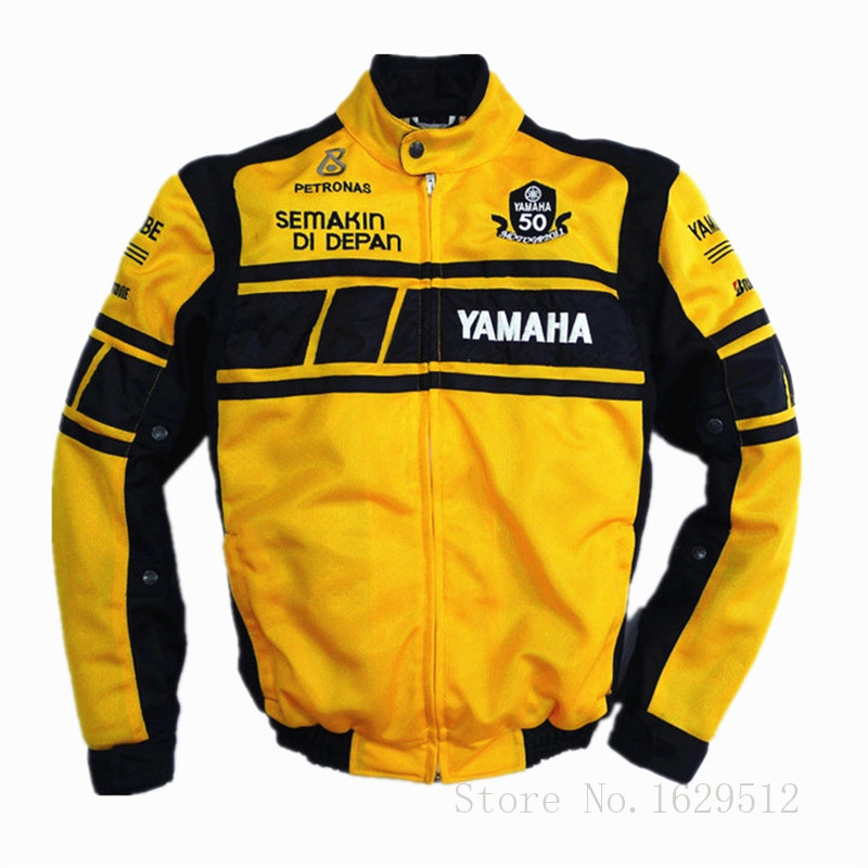 Summer Mesh Breathable Motorcycle Jacket For YAMAHA Racing Team 50-years Anniversary MotoGP Textile Jacket With Protective Gear