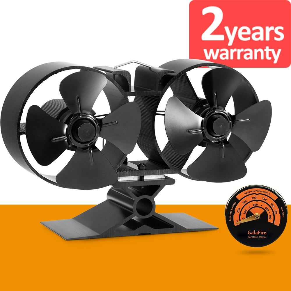 [2 года гарантии] 8 блейд Twin Мотор работает тепла Эко Плита вентилятор экономии стоимости топлива для дерева газа угольные гранулы журнала пе...
