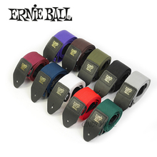 Ernie Ball Polypro Guitar Strap Leather Ends High Quality Comfortable Guitar Strap for Acoustic, Folk, Electric Guitar, Bass