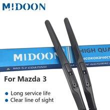 Щетки стеклоочистителя MIDOON для Mazda 3 2003 2004 2005 2006 2007 2008 2009 2010- автомобильные аксессуары мягкие резиновые стеклоочистители для лобового стекла автомобиля