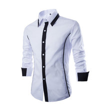 Latest Style Cotton Mens Custom Dress Shirt Men Casual Shirts Long Sleeve Camisa Dos Homens CSCH-QW-CS13