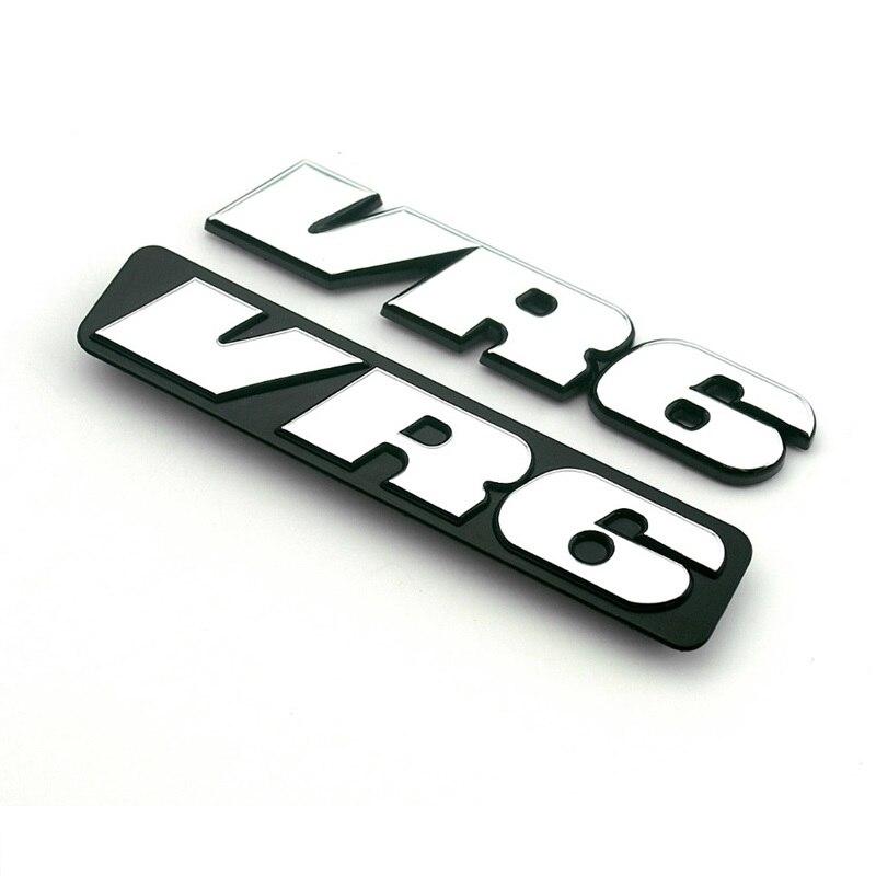 VR6 3D Emblem ABS Car Grille Emblem Badge Sticker For Polo Golf 2 Corrado MK2