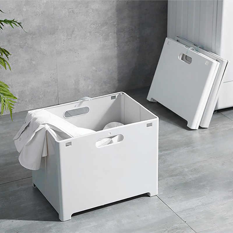 Baffect Dobrar cesto de Roupa Suja Cesta de Roupa Suja Cesta De Armazenamento De Plástico Fixado Na Parede Organizador Para Lavanderia Cesto de roupa suja