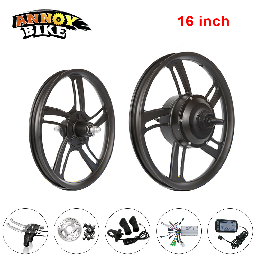 High Speed 16 inch Hob Motor Wheel Kit Electric Bicycle Motor Brushless Entire Completed Wheel Rear Drive 36V48V250W Gear Motor цена