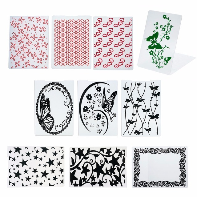 New Several Patterns Plastic Small Embossing Folder For Scrapbooking DIY Photo Album Card Party Decoration Papercraft #228791