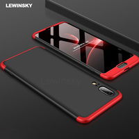 3 in 1 Hard PC 360 Full Protect Case For Huawei p20 p10 p8 p9 Mate 10 lite 2017 pro Y9 2018 Case on Honor 7C 7x 6x 10 8 9 Lite