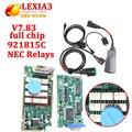 2016 Mais Novo V7.83 chip full com firmware 921815C Lexia3 Lexia 3 ferramenta de diagnóstico Lexia-3 V48 PP2000 V25 Com Novo Diagbox chegada