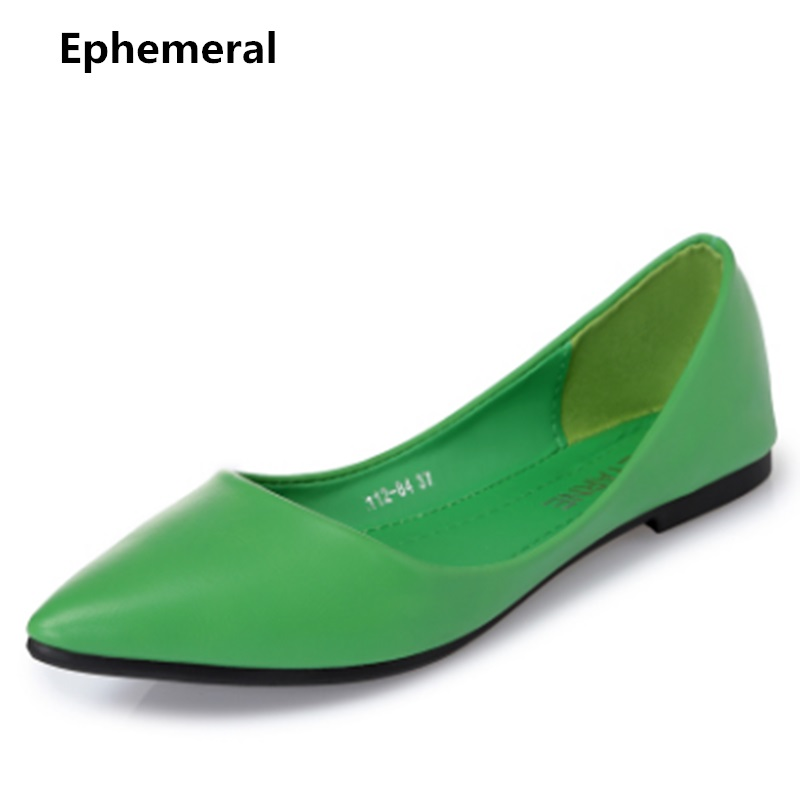 Female flats summer shoes women no heels loafers beige blue black pointed toe slip-on personalizados homem casual plus size 5-4 new 2017 spring summer women shoes pointed toe high quality brand fashion womens flats ladies plus size 41 sweet flock t179