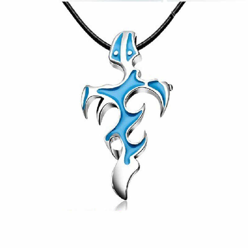 1 pcs New Arrival Unisex's Men Blue/Black Silver Stainless Steel Cross Pendant Necklace Chain Gift collier homme