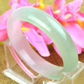 New Infinity Pure Natural Violet powder green B jade  bracelet Bangle Jade Transparent Bracelets & Bangles for Women Men Jewelry