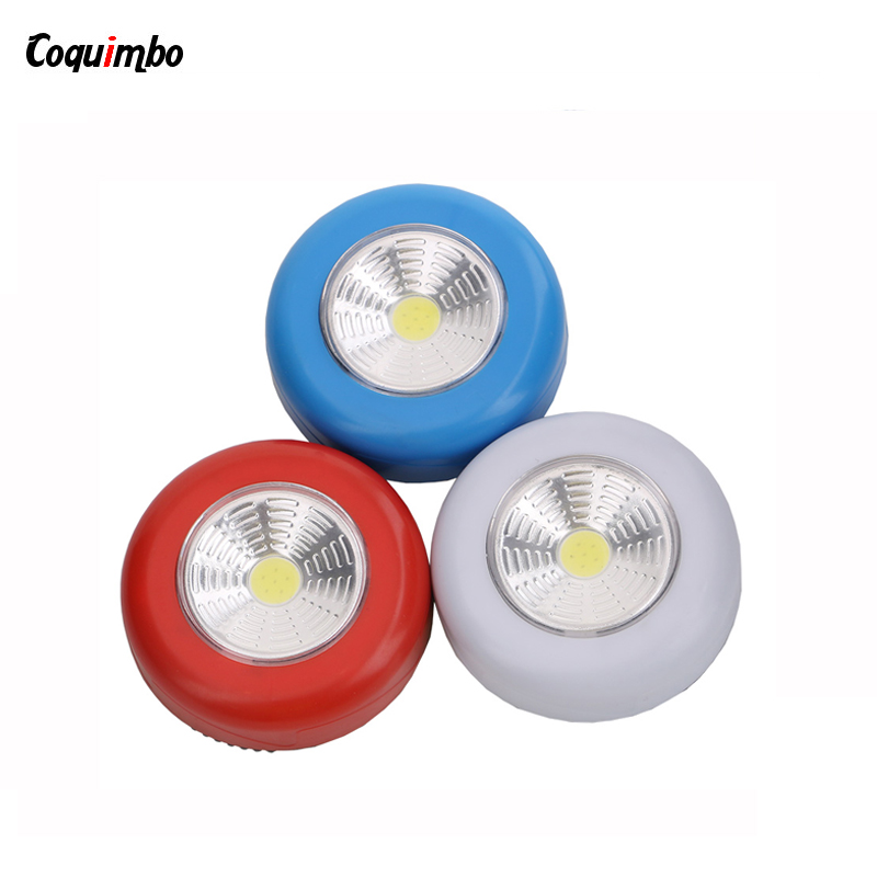 Mini Bright Single Mode COB Night Lamp LED Flashlight Lantern ON/OFF LED Lamp for Outdoor Camping Emergency Light By AAA
