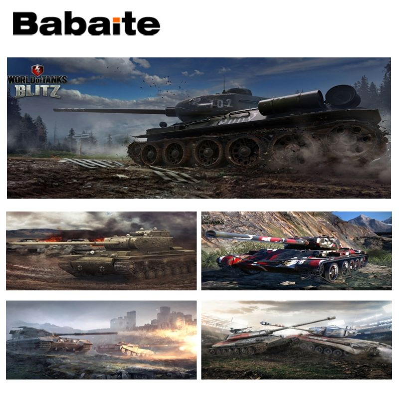 Babaite World of tanks cool tank Laptop Computer Lockedge Mousepad Size for 30x90CM Speed Version Gaming Mousepads ...