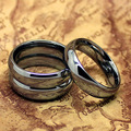 Top Quality! Tungsten Silver Color 6mm Pure Tungsten Carbide Ring Fashion Jewelry The One Ring Wedding Rings
