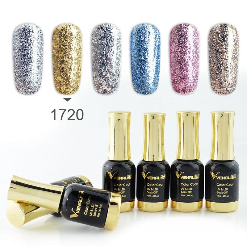 6 pièces nouveau Venalisa Nail Art 12ML Nail Art souper diamant brillant paillettes paillettes étoilé platine série vernis à ongles peinture gel kits