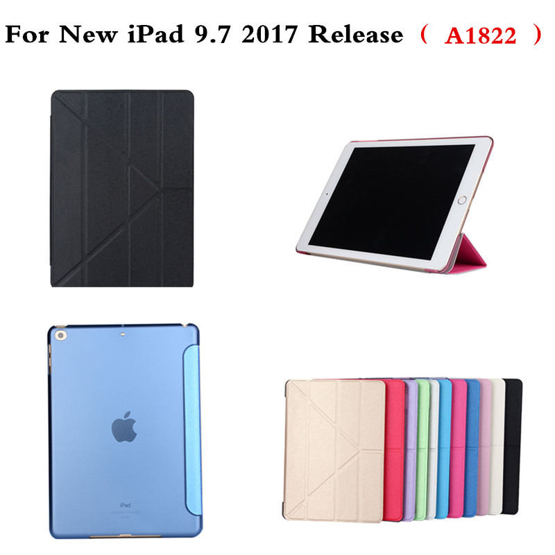 Ultra-thin Flip PU Leather Case For iPad 9.7 inch 2017 Release A1822 A1823 Smart Cover Auto Sleep/Wake up Protective Shell ultra thin for ipad air 2 case pu leather smart stand cover universal auto sleep wake up flip 9 7inch case for ipad air 1 2