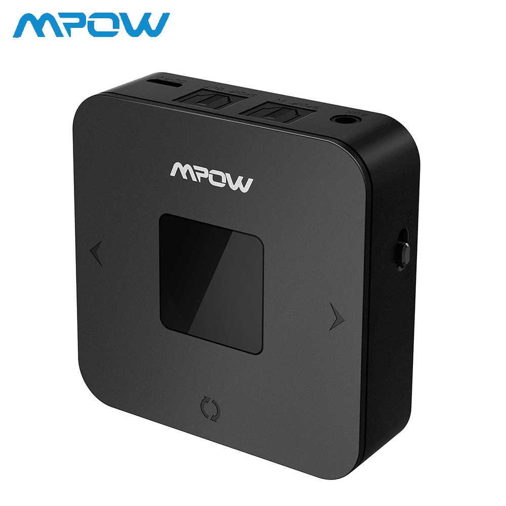 Transmisor receptor Bluetooth Mpow BH286 Real APTX/APTX LL receptor adaptador inalámbrico 20H tiempo de reproducción para el coche doméstico sistema de Audio