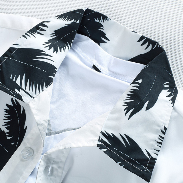 Printed Beach Shirts Short Sleeve brand clothing Free Shipping