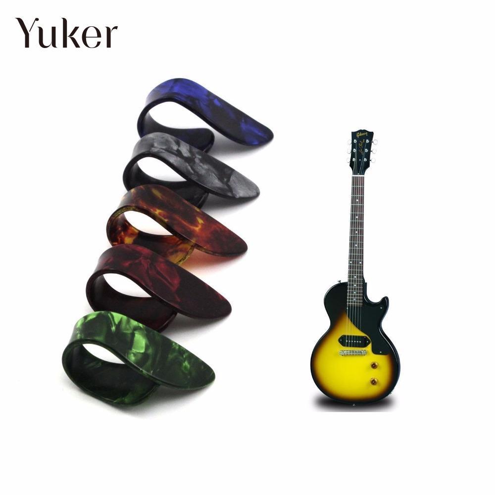 Yuker Effective Finger Cover Acoustic Nail Celluloid Guitar Banjo Thumb Picks Plectrum Color Instrument Music Accessories