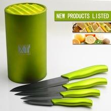 De alta calidad de 6 pulgadas cuchillo de cocina titular xyj marca multifuncional herramientas forma redonda soporte de cuchillo de cerámica cuchillo de gama alta bloque