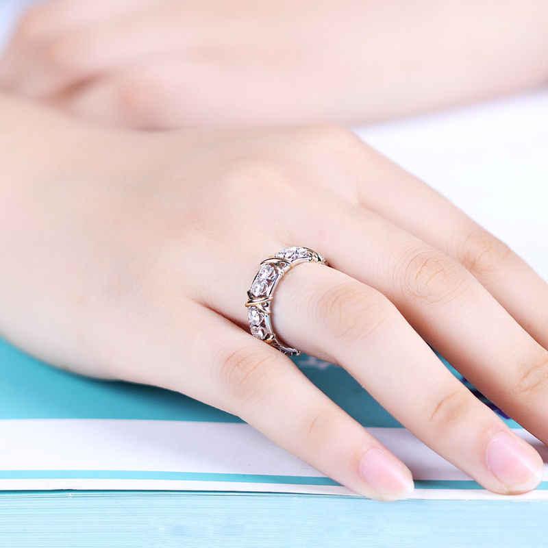 Choucong Wieck Desgin เครื่องประดับ 925 เงินสเตอร์ลิง AAA CZ หินแต่งงานแหวนหมั้นแหวนของขวัญขนาด 5-11