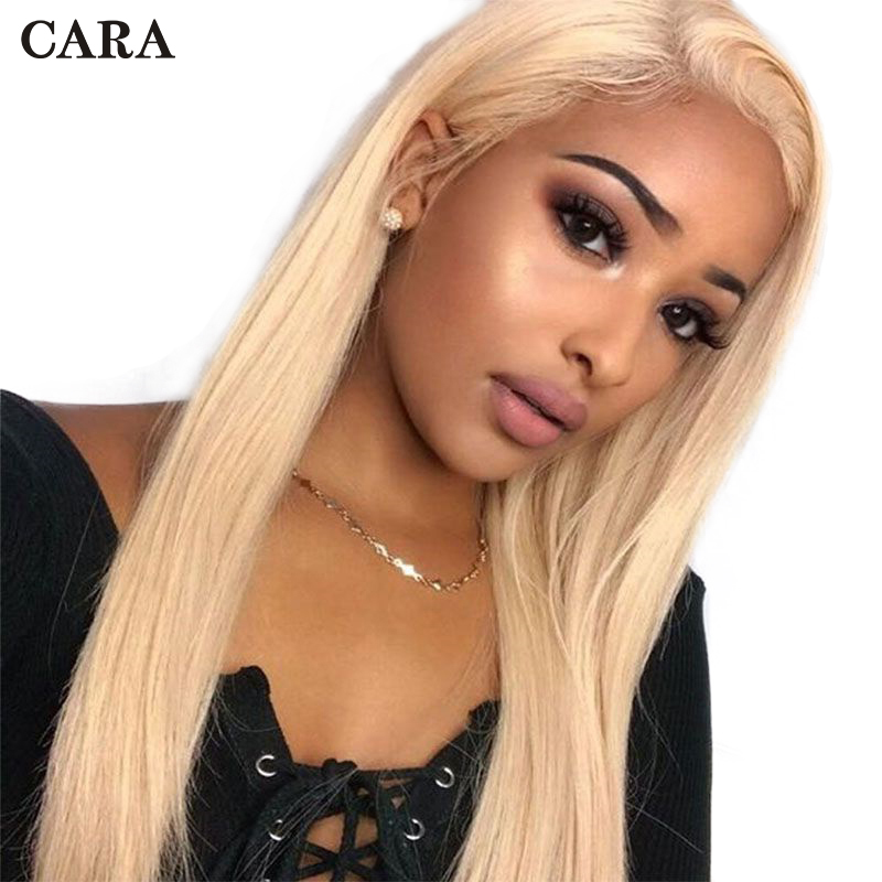 613 Full Lace Wig Human Hair Blonde Brazilian Remy Glueless Pre Plucked Full Lace Human Hair Wigs With Baby Hair Straight CARA