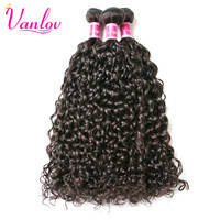 Vanlov Water Wave Human Hair Extension Malaysian Curly Hair 1 Bundle 100g 8 28 Inch Natural