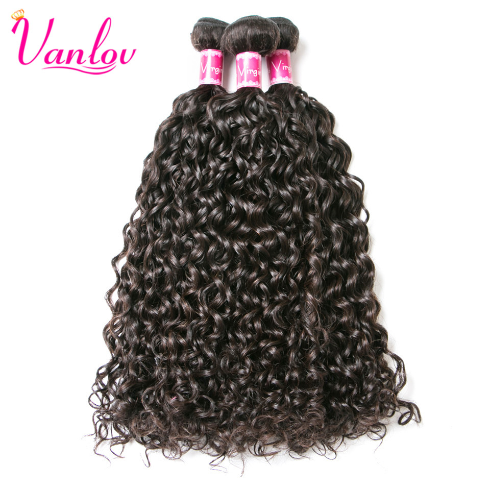 Vanlov Malaysian Water Wave Bundles Human Hair Extension Natural Color Weave Bundles Non Remy Can Buy