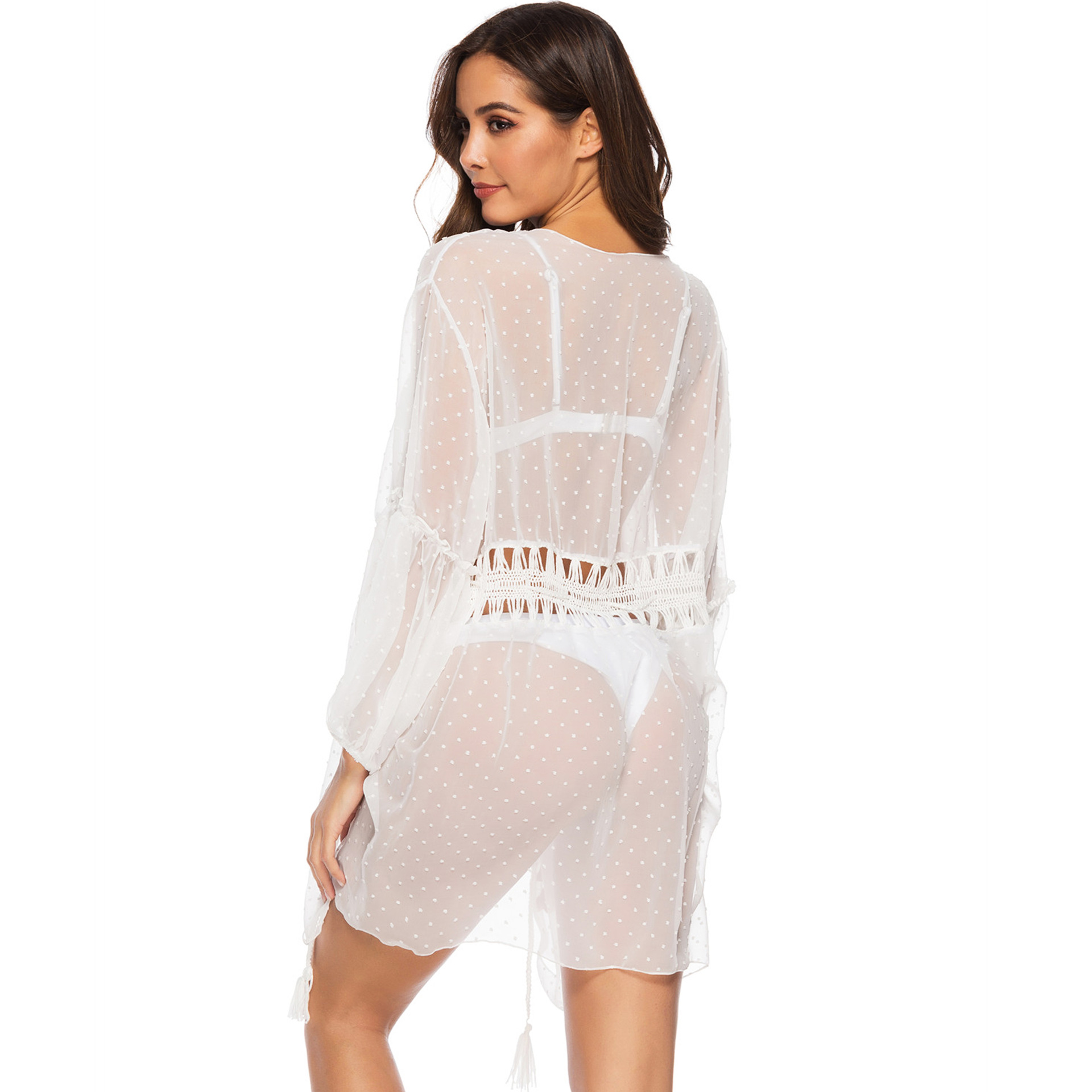 beach cover ups hand crochet cardigan shirts bikini cover ups harajuku blouse women lace blouse transparent crop top women in Blouses amp Shirts from Women 39 s Clothing
