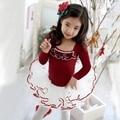 Ginástica leotards ballet saia ballet para crianças collant collant + dress espartilho traje de dança saia longa macacão