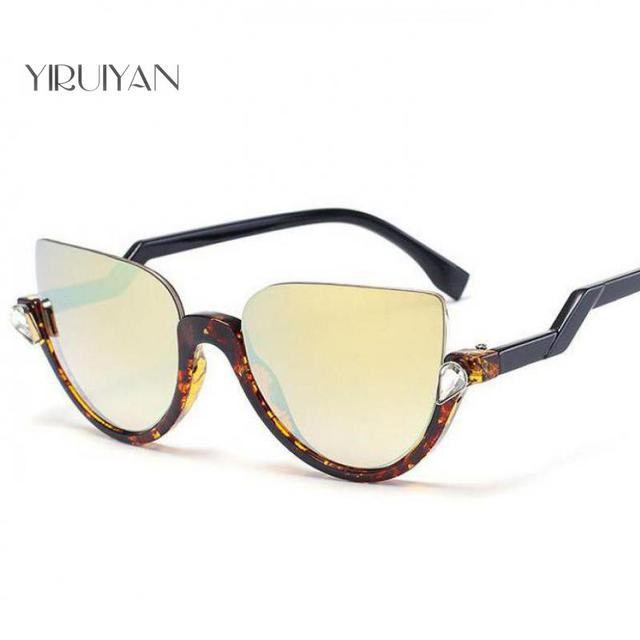 98f88491227 5 pieces wholesale Brand Half Frame Cat Eye Sunglasses Women Mirror Sun  Glasses Fashion Female Party