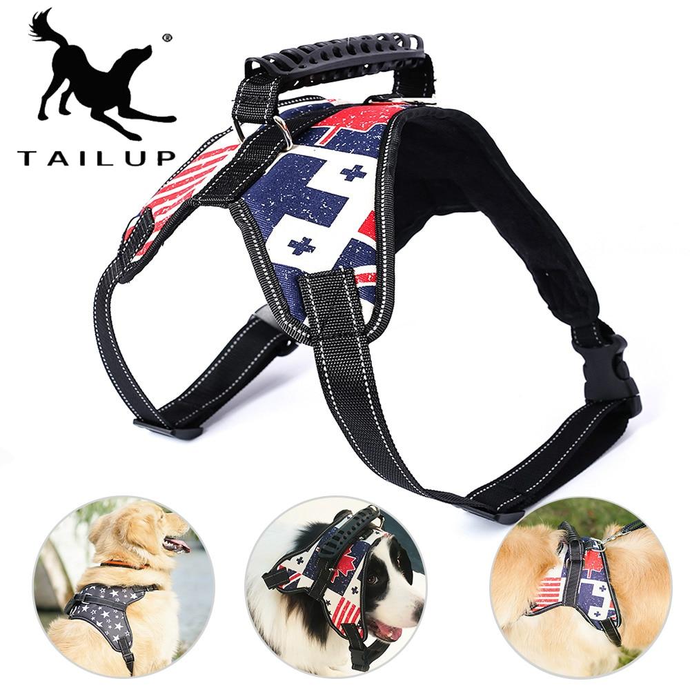 Einstellbare Hund Harness Für Kleine Große Hunde Haustiere Leinen K9 Geschirre Reflektierende Hund Leine Weste Harness Pet Produkte AM007