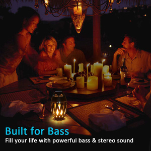 Image 4 - Draadloze Speaker Led Vlam Licht Speaker Draagbare Bluetooth Luidspreker Outdoor Speler Met Led Flame Torch Licht Flikkeren Licht