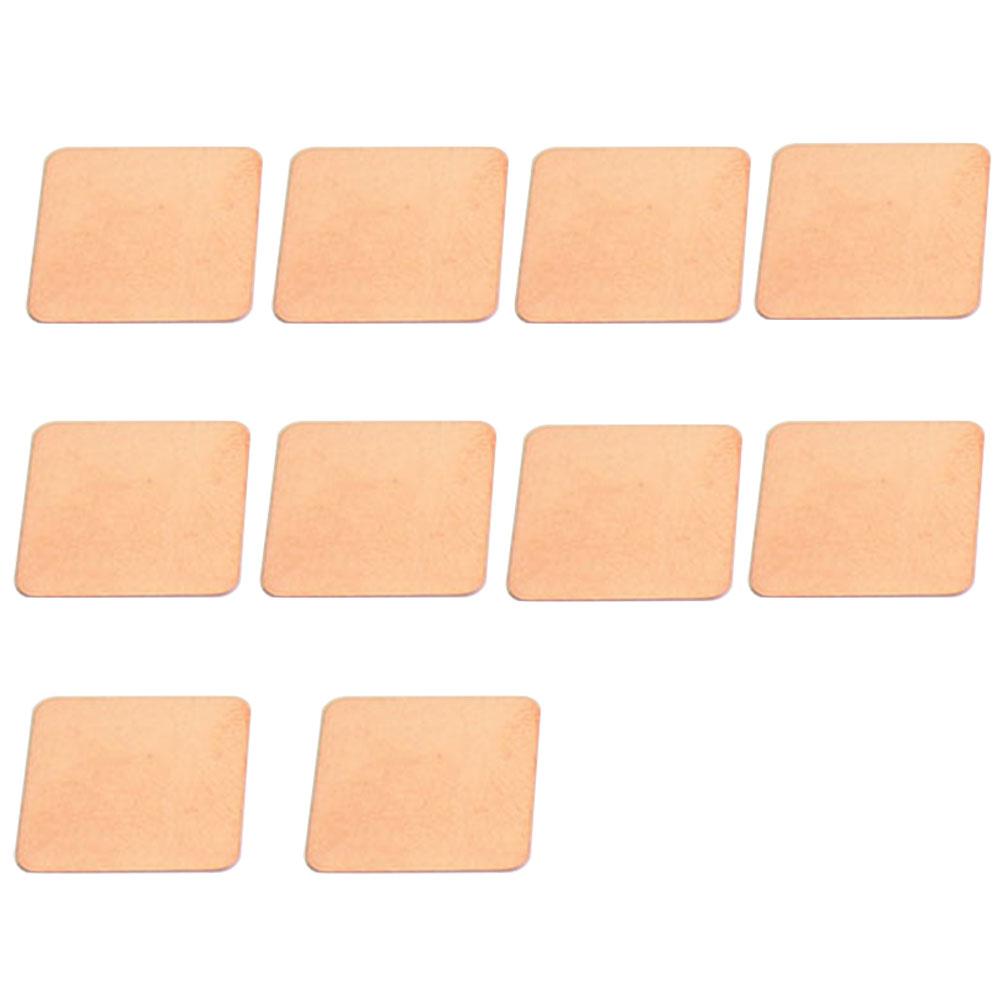 10 Stücke Cpu Ableitung Thermische Pad Laptop Computer Kupfer Shim Gpu Kühler Grafikkarte Blatt Kühlkörper Glatte
