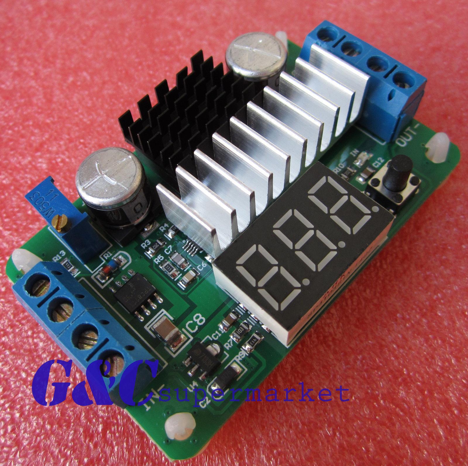 100w 6a Dc Power Source Step Up Converter Ltc1871 35v 30v 5v Boost Module 12v Adjustable Converters Red Led Voltmeter In Integrated Circuits From