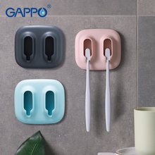 2 Slot Waterproof Toothbrush Holder Wall Suction Cups Shower Holder Simple Sucker Suction Hooks Bathroom Accessories(China)