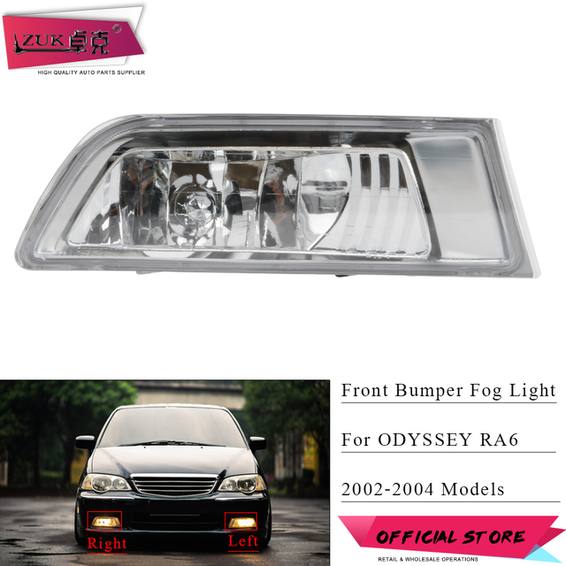 Zuk Front Per Fog Light Lamp Headlight For Honda Odyssey 2002 2003 2004 Ra6 Foglight Foglamp 33951 S3r Q02 33901