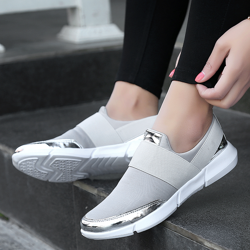 cb2bca63f06da 2019 Brand Mesh Breathable Summer Womens Shoes Women Slip On Sport Shoes  Ultralight Flats Shoes New Zapatillas Shoes Size 35 42-in Running Shoes  from Sports ...
