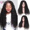 Unice saç su dalgası 360 dantel ön insan saçı peruk 13*6 dantel peruk 10-24 inç brezilyalı remy saç peruk ön koparıp