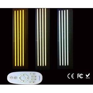 18 W 2.4G RF LED Tube lumière avec télécommande sans fil LED intelligent t8 baignoire dimmable température de couleur et luminosité 2800k-6500
