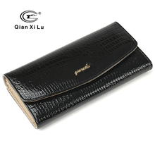New Designer Women Purses Genuine Leather alligator Wallets With Card Holder Gift Box Pack