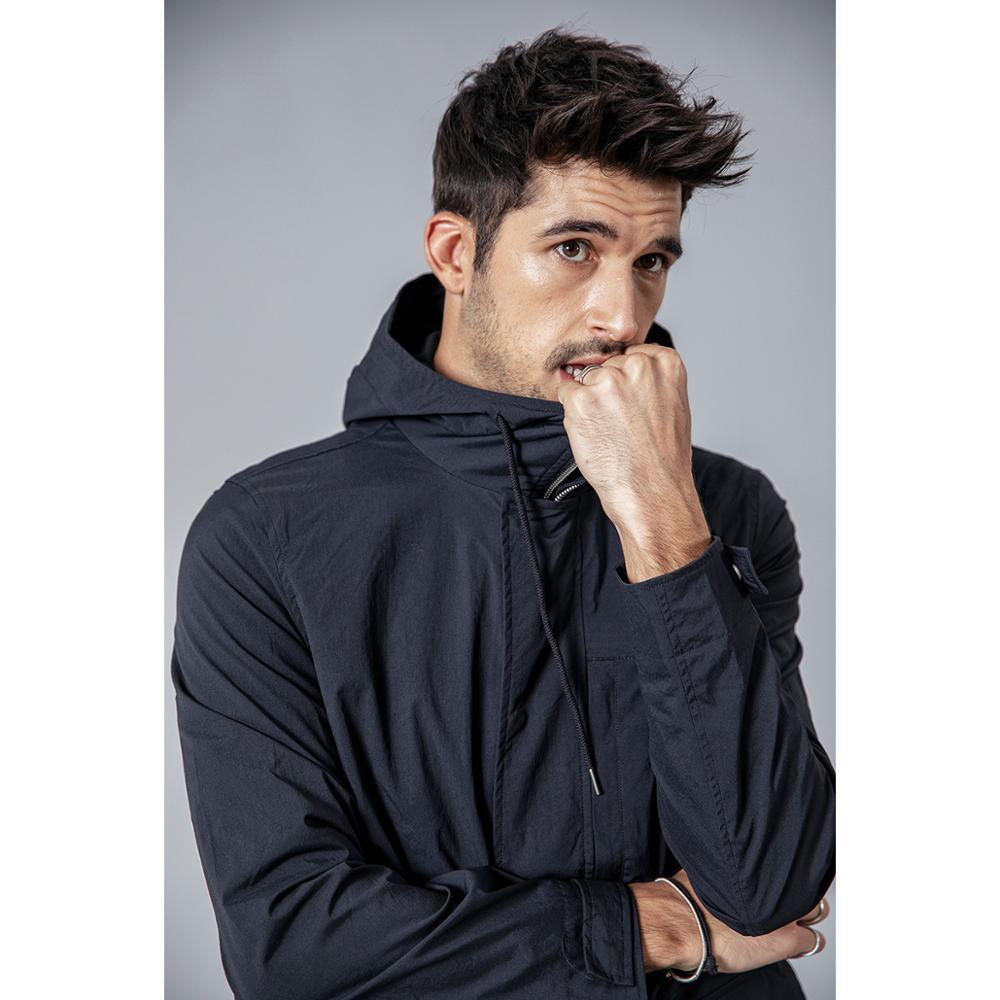Slim Fit Pocket Hooded Trench Coats  1