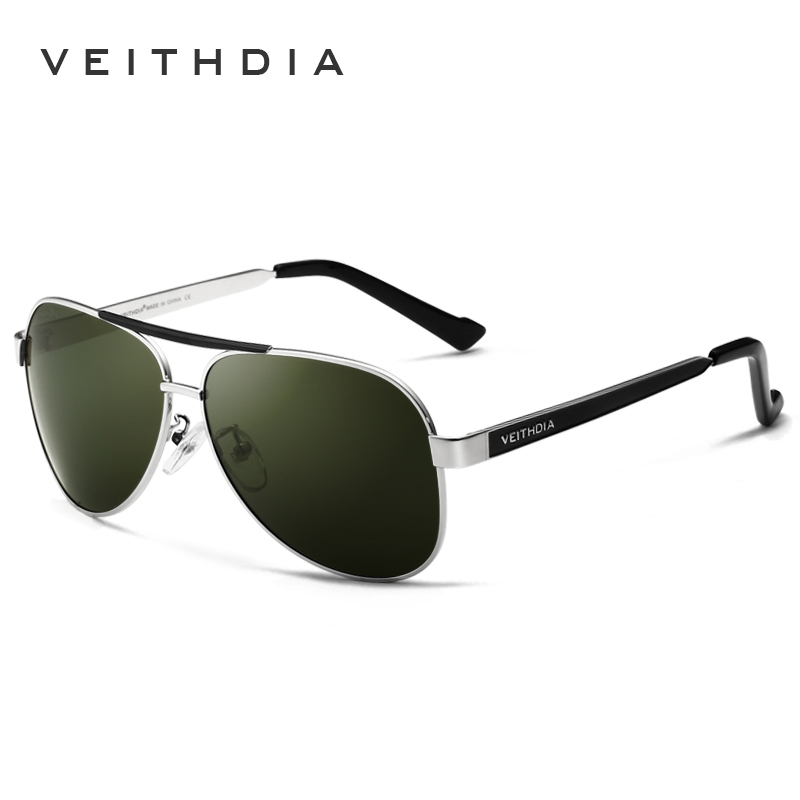 faea79f5e4c VEITHDIA Brand Designer Polarizerd Sunglasses Men Glass Mirror Green Lense  Vintage Sun Glasses Eyewear Accessories Oculos