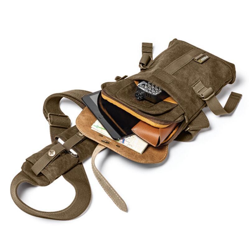 National Geographic NG A4567 sac à bandoulière Portable sac à bandoulière en cuir souple sac de transport à glissière sacs à bandoulière multi-poches