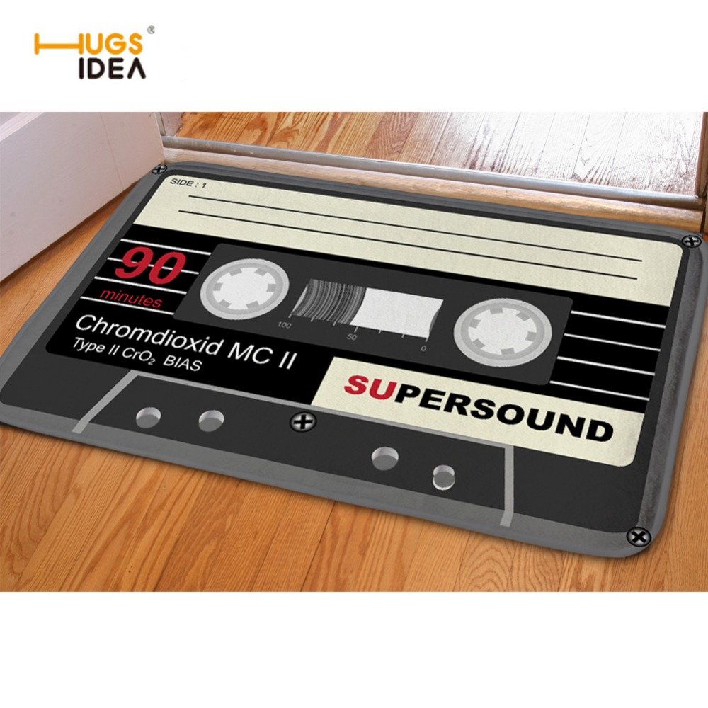 Funny bathroom rugs - Hugsidea Funny Entrance Doormat 3d Magnetic Tape Home Floor Carpet For Bedroom Living Room Kitchen Flannel