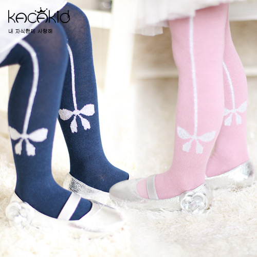 KACAKID Children Girl Pantyhose Cute Bow Floral Baby Children Pantyhose Tights Cotton Anti-slip Kid Children Girls Tights Ka1171
