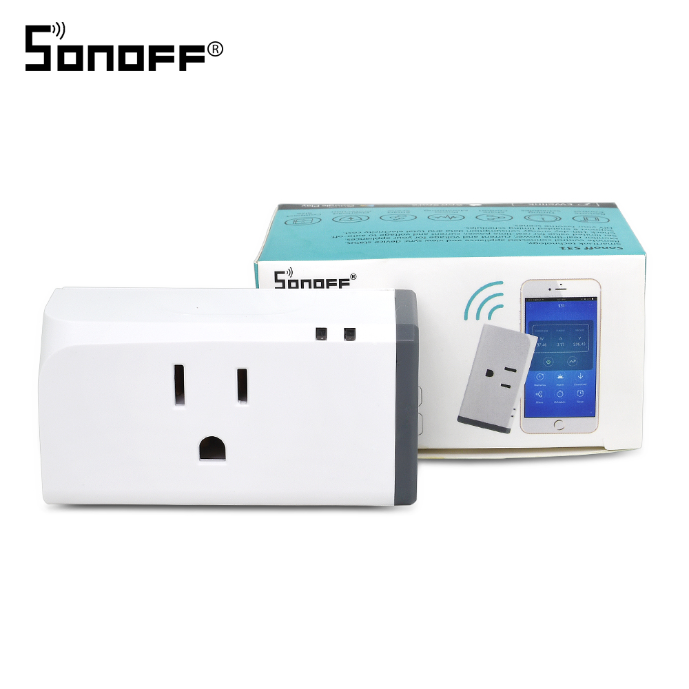 SONOFF S31 Mini Wifi Smart Socket US Plug 16A Modules Timer Power Monitoring Smart Home Work With Alexa Google Assistant